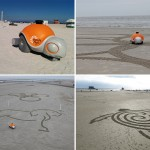 Beachbot Scurries Around The Sand To Create Art
