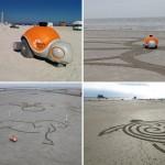 Beachbot Scurries Around The Sand To Create Art