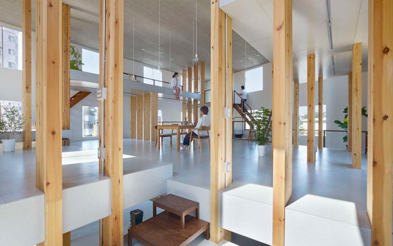 Pillar Grove by Mamiya Shinichi Design Studio