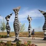 Artist Dan Corson Creates Group Of Color Changing Sculptures