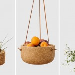 Cork And Leather Get Together In Melanie Abrantes' Hanging Planters