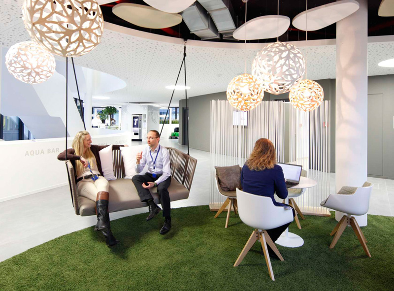 Bon This Office Space Is Designed To Encourage Informal And Accidental Meetings