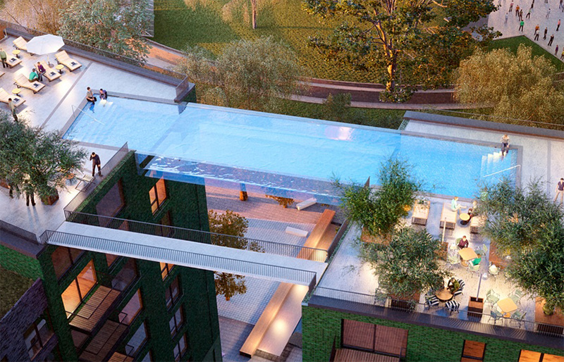 This Glass Bottomed Swimming Pool Will Bridge Two Buildings In London