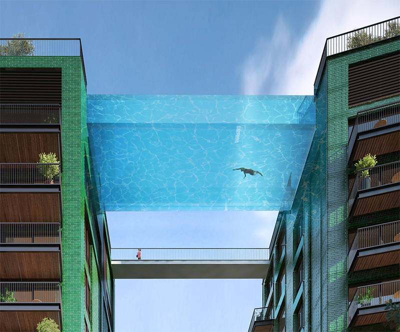 This Glass-Bottomed Swimming Pool Will Bridge Two Buildings In London