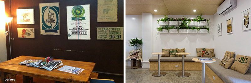 Before & After – Excelso Coffee By Bubble Interiors