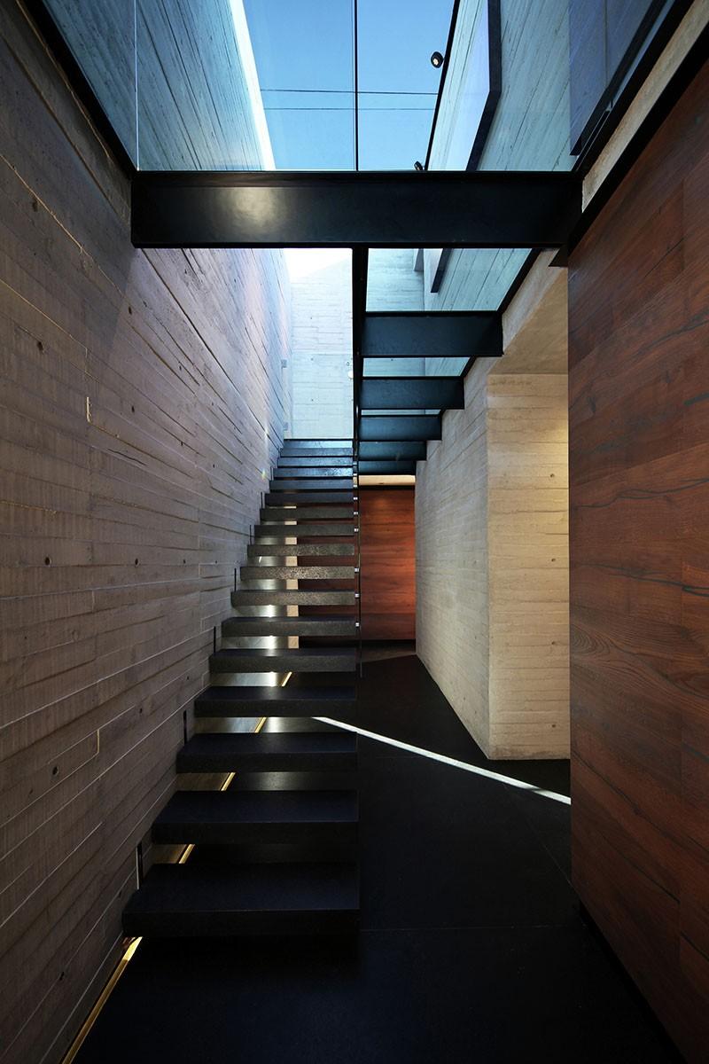Glass floor hallway