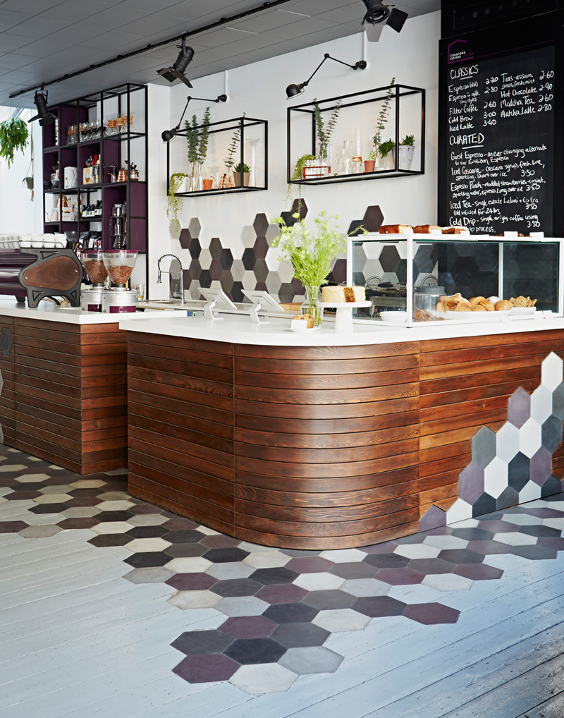 A Creative Way To Transition Between Hexagonal Tiles And Wood Flooring