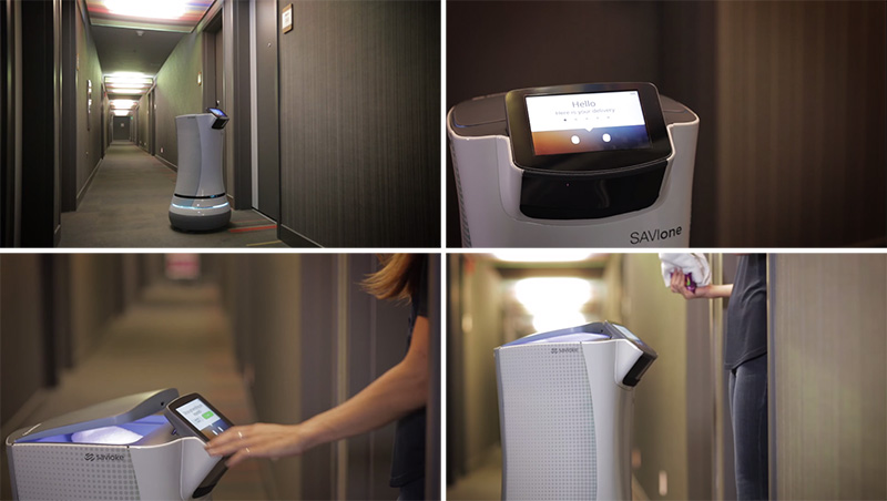 Watch This Hotel Room-Service Robot Deliver Stuff To A Room