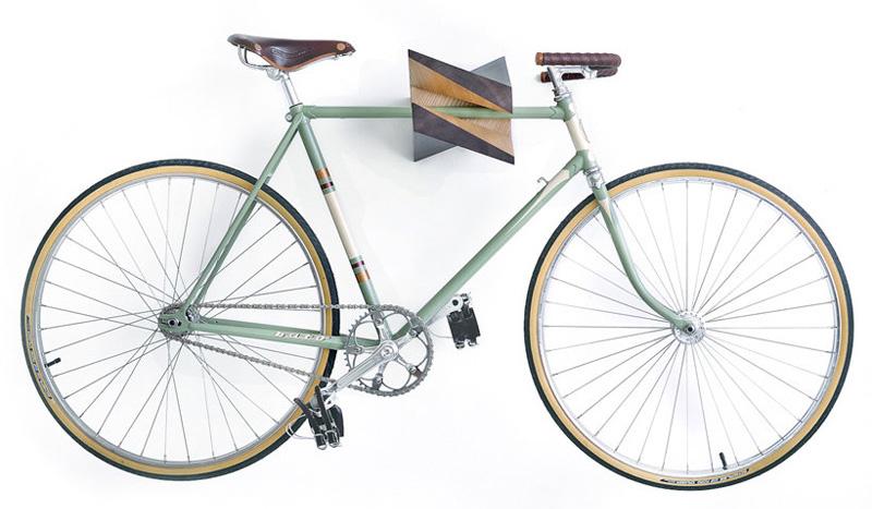 Reinis Salins Designs A Two-Tone Wood Bike Holder