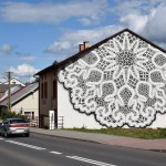 Street Artist Decorates A Building In Poland With Painted Lace