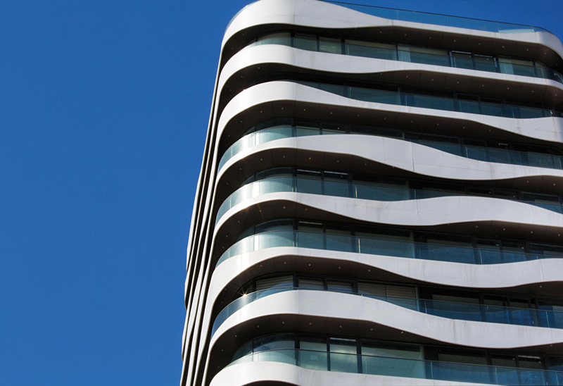 Wavy Balconies Surround A New Office Building In Istanbul