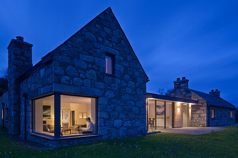 Derelict Stone Buildings Restored And Contemporized Into A Scottish Residence