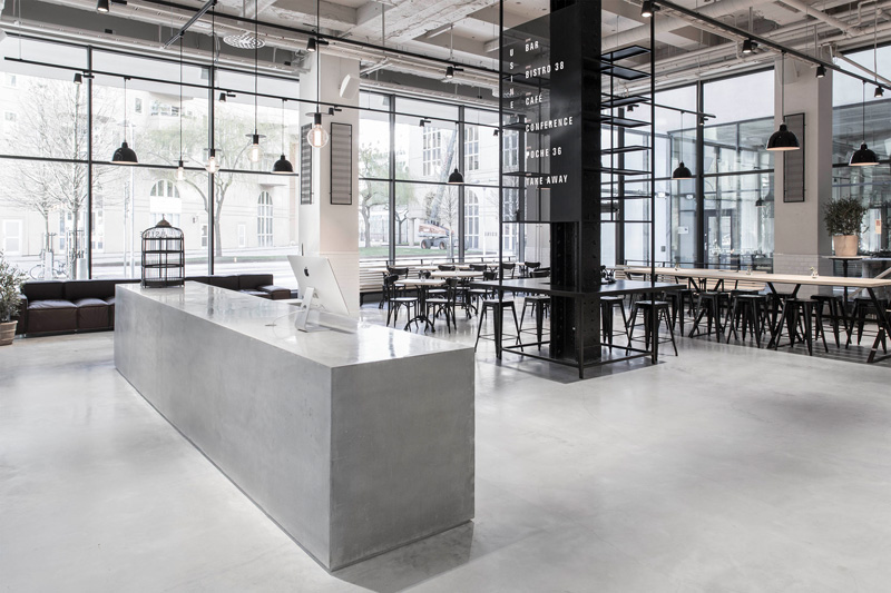 this new space used to be a sausage factory bright office