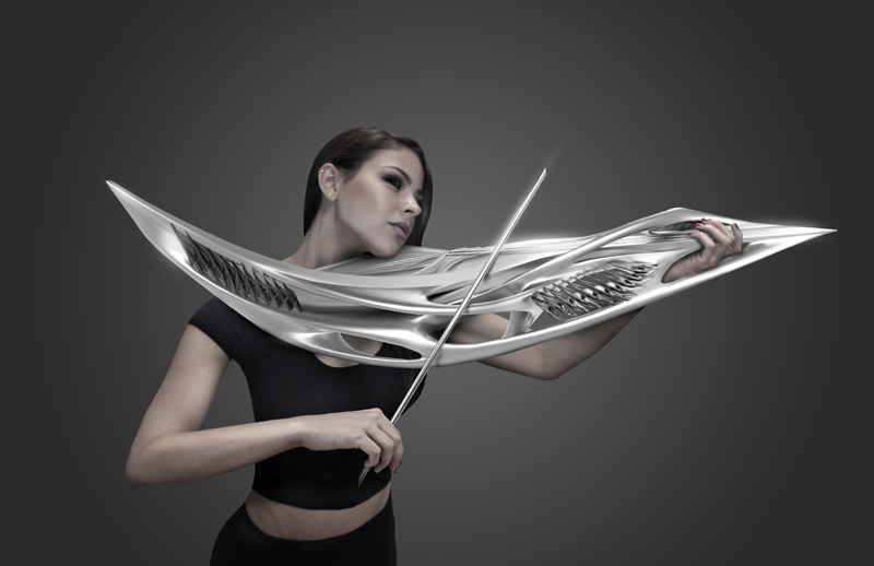 A Futuristic-Looking 3D Printed Violin