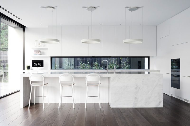 13 examples of bright white contemporary kitchens contemporist. Black Bedroom Furniture Sets. Home Design Ideas