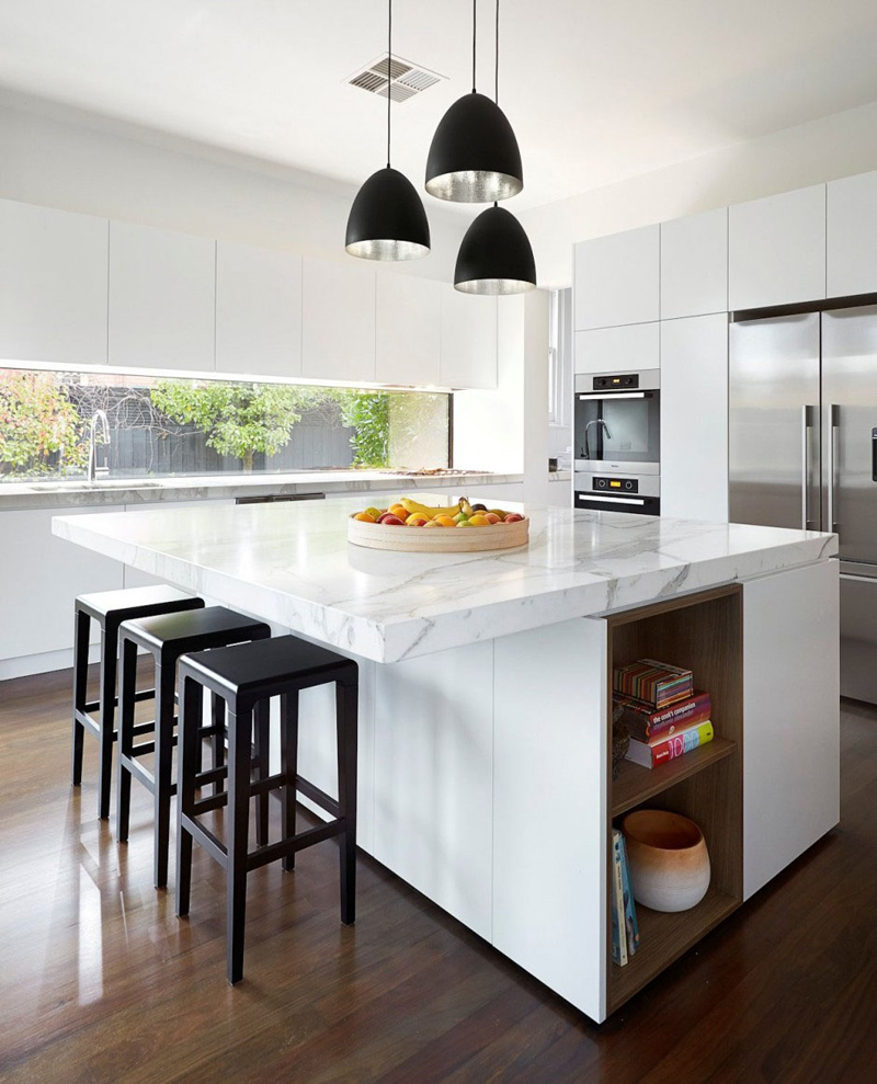 Contemporary Kitchen: 13 Examples Of Bright White Contemporary Kitchens