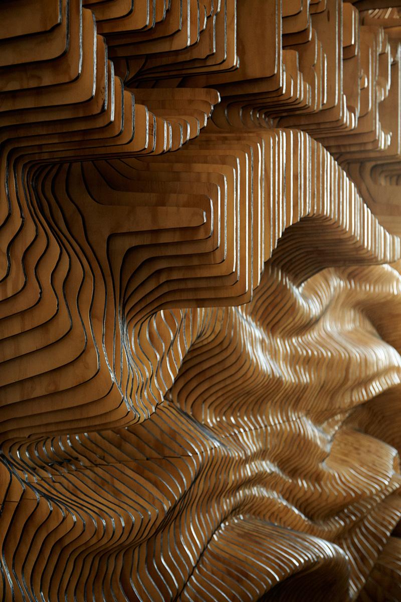 Wonderland Create Wall For Carlsberg Made From 160 Laser Cut Panels