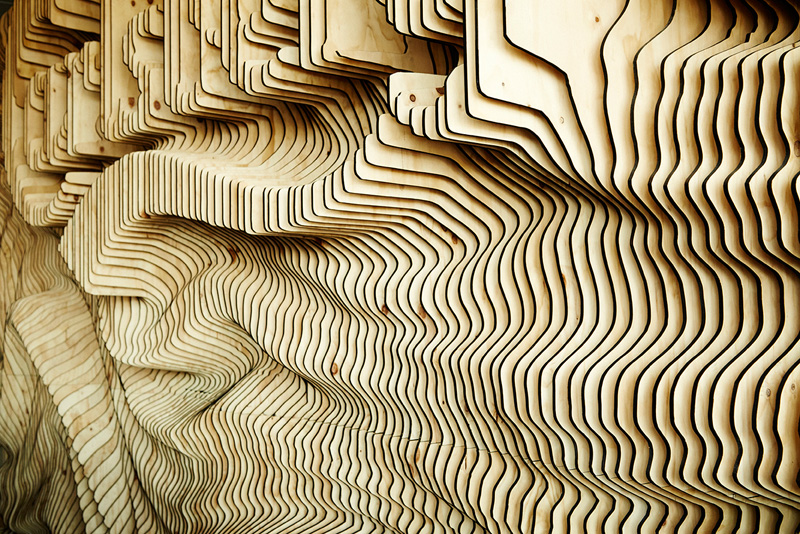 Wonderland Create Wall For Carlsberg Made From 160 Laser Cut Panels - Designers Create A Wall For Carlsberg From 160 Laser Cut Pieces Of
