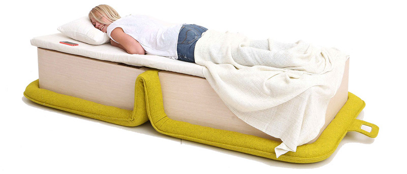 This Armchair Is Designed To Fold Out Into A Bed