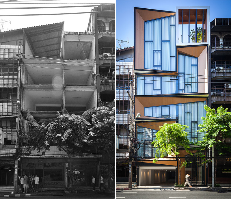 Before & After - A Dramatic Transformation For A Building In Thailand
