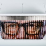 Andrew Myers Creates A Portrait Using Suspended Painted Cubes