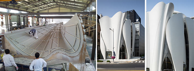 Here?s A Look At How The Sculptural Panels Of The Dior Flagship Store In Seoul Were Made