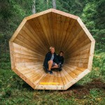 Gigantic Wooden Megaphones Have Been Installed In A Forest In Estonia To Amplify The Sounds Of Nature