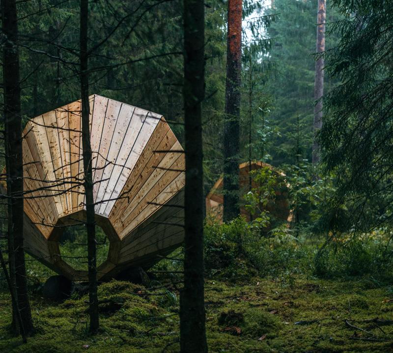 Gigantic Megaphones Have Been Installed In A Forest In Estonia