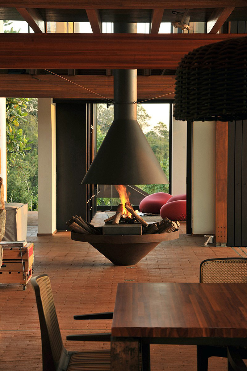 9 examples of freestanding fireplaces that make a