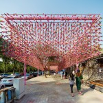 A New Pavilion In Beijing Features 15,000 Brightly Colored Shuttlecocks