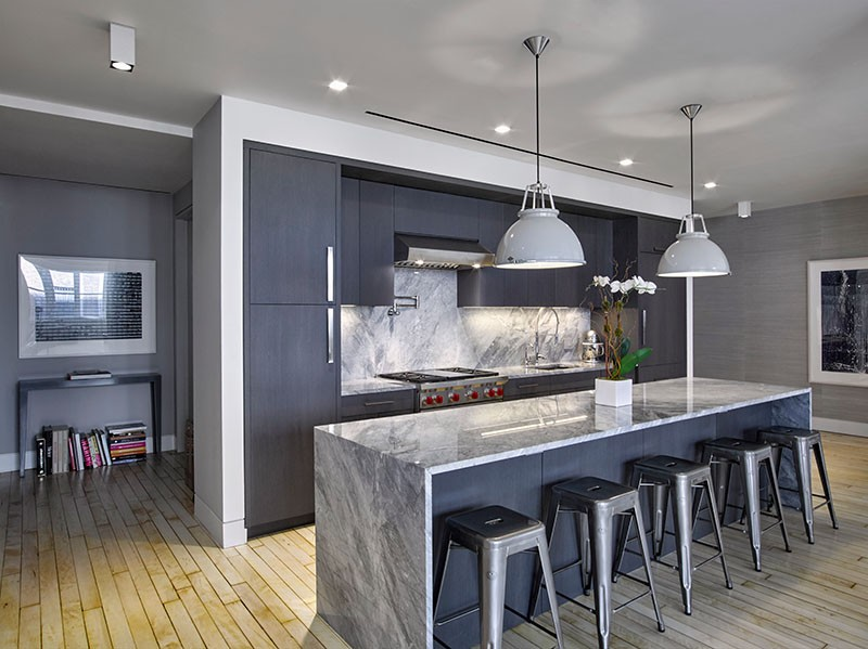 Grey contemporary kitchen