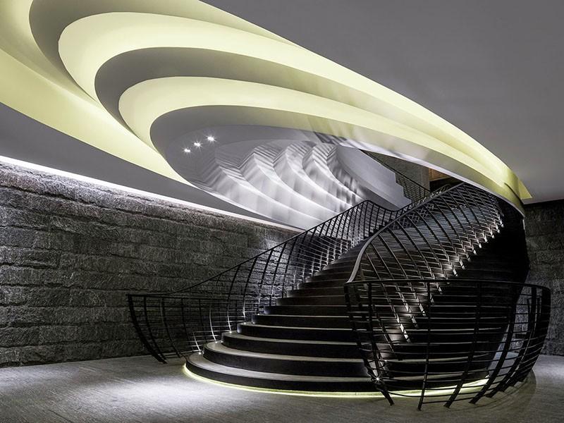 Sculptural ceiling lighting