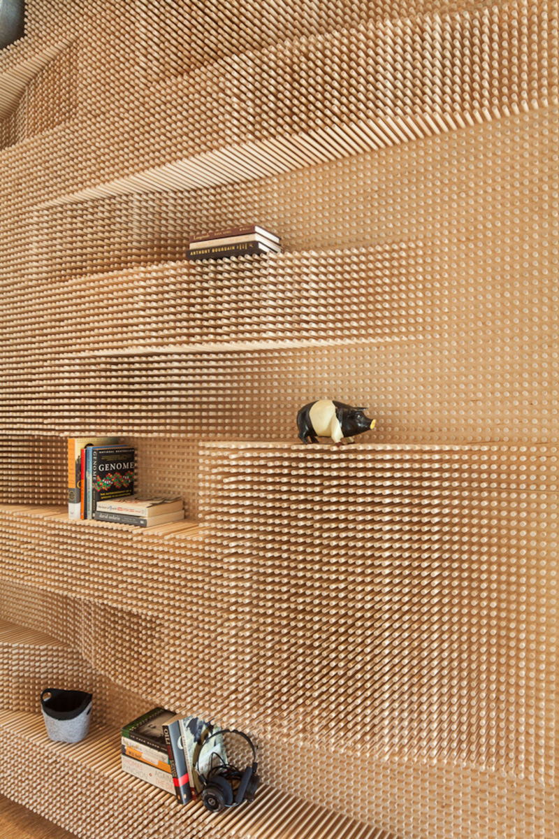 This Creative Wall Of Dowels Hide A Bathroom Within ... on Creative Wall  id=41695