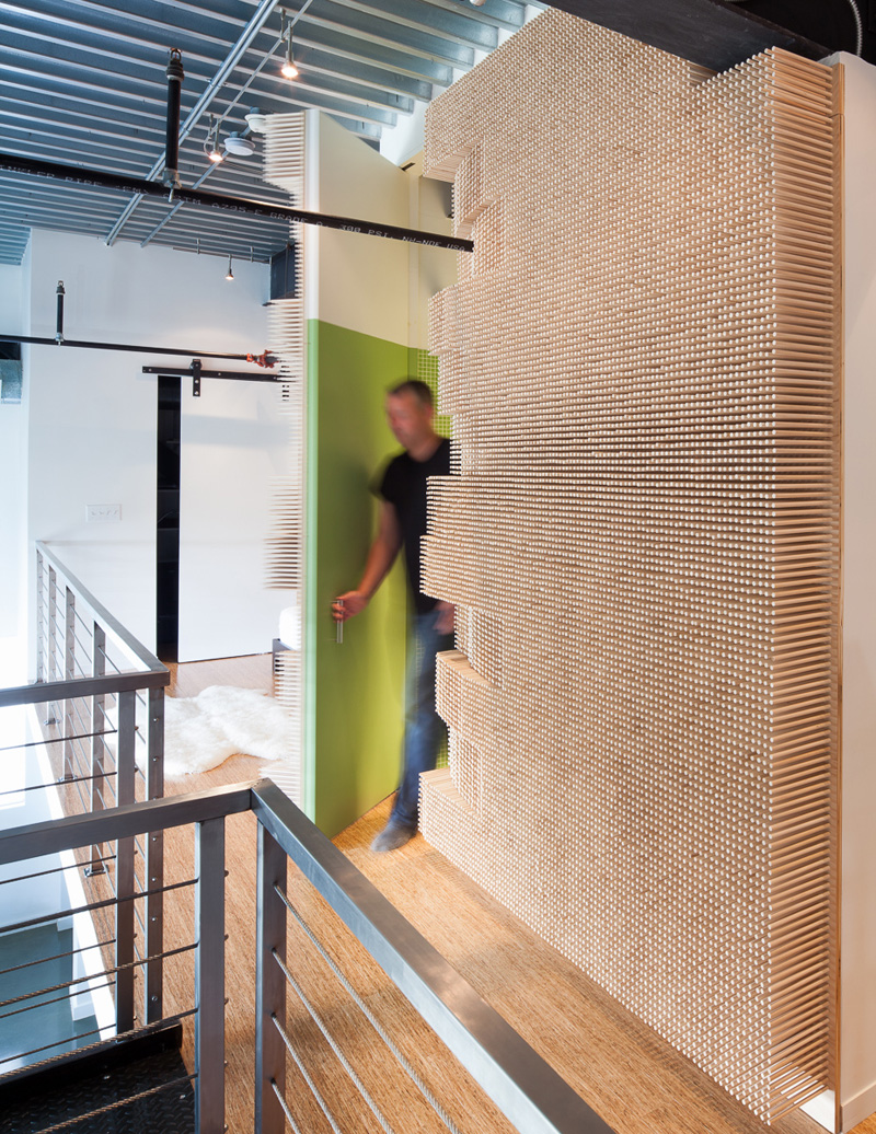 Peg Wall by MERGE Architects
