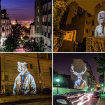 Street Artist Projects Fashionista Animals On Buildings In Paris