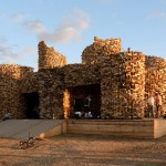 Artist Uses Recycled Off-Cuts Of Wood To Create An Architectural Sculpture