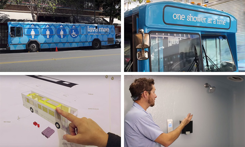 The Renovated Bus Provides Mobile Showers For The Homeless In San Francisco