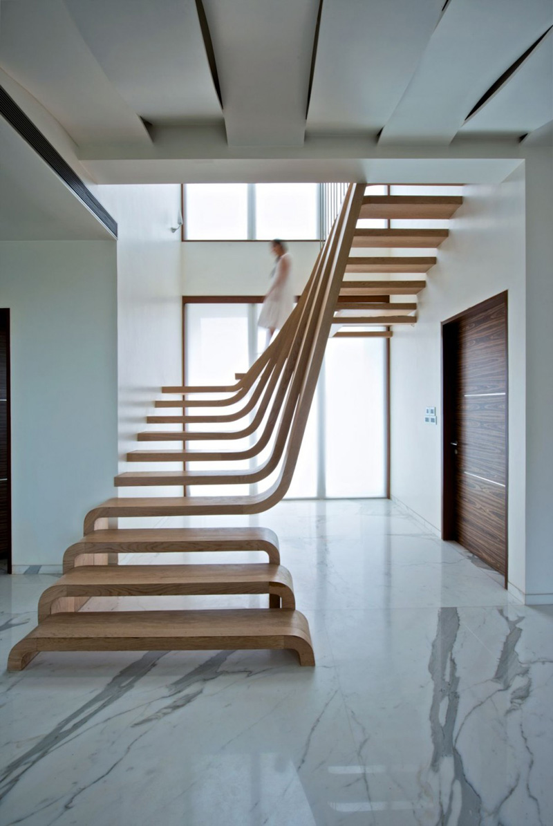 12 Excellent Examples Of Stairs Without Railings Contemporist