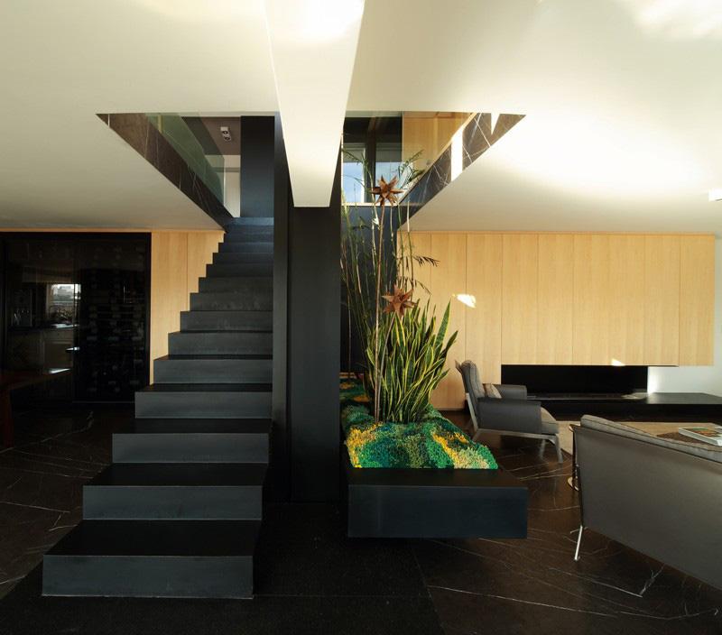 Black Modern Stairs