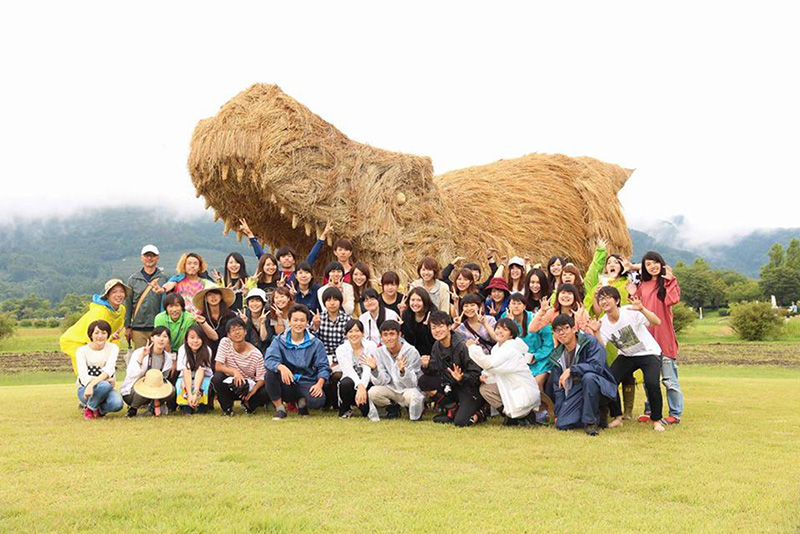 Rice Straw Sculptures In Japan