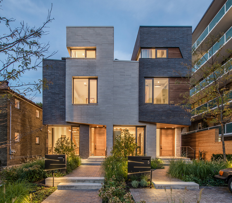 townhouses in toronto by luc boulaine - New Homes Designs