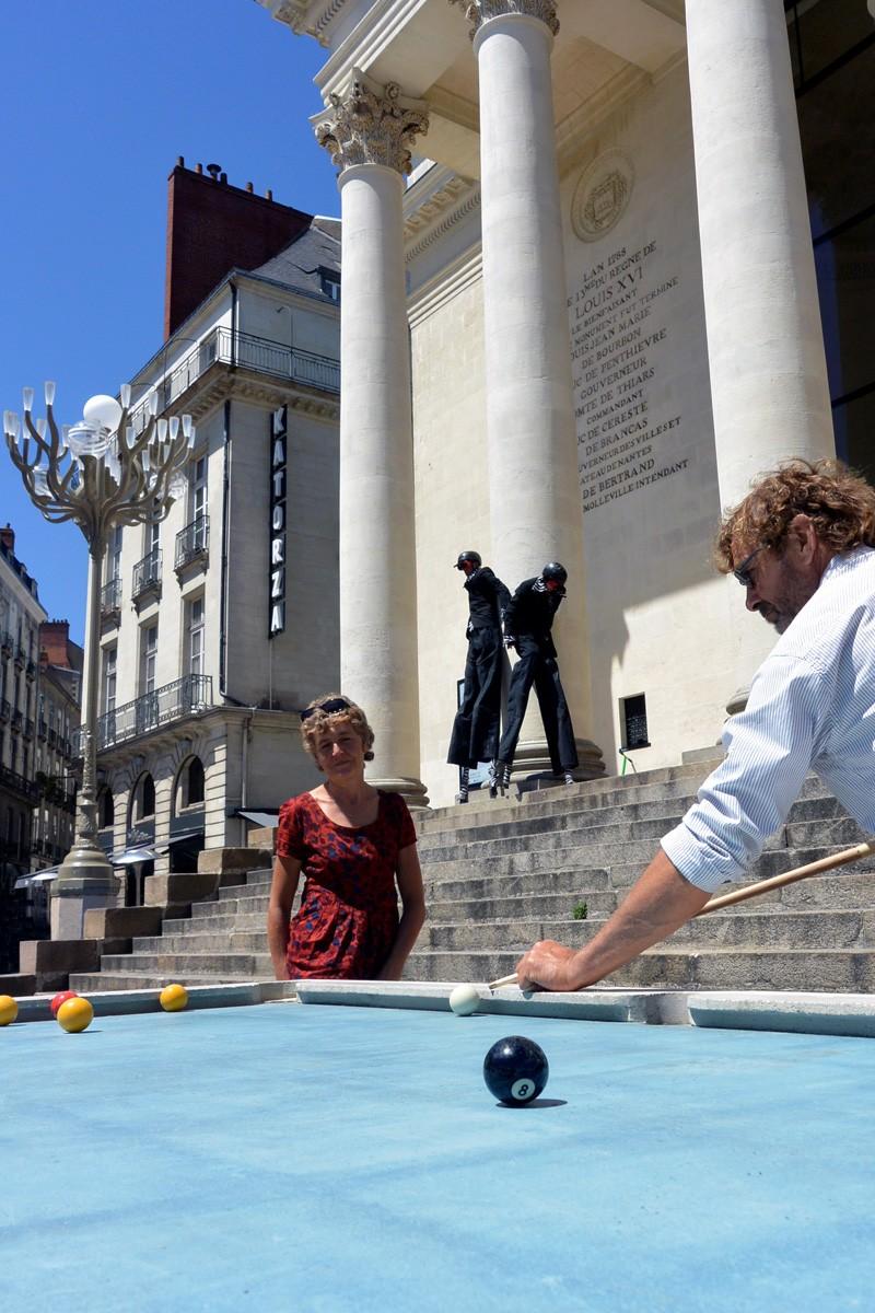 Gwendal Le Bihan Designs Urban Pool Table For Public Games