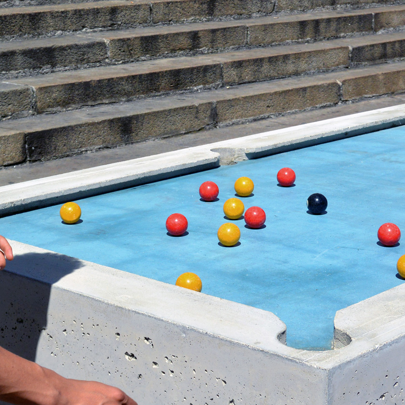 Gwendal Le Bihan Designs Urban Pool Table For Public Games