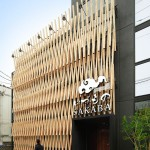 A Facade Of Wood Latticework Covers This Japanese Restaurant