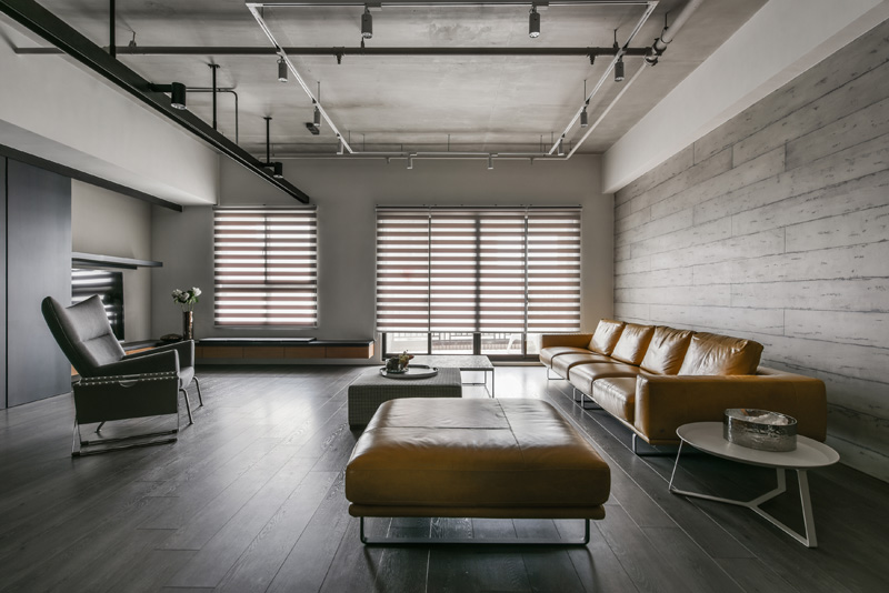A Palette Of Wood Metal And Concrete For This Apartment Interior In Taiwan Contemporist