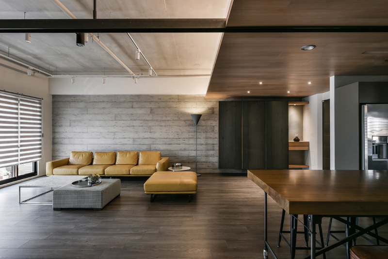 A Palette Of Wood Metal And Concrete For This Apartment
