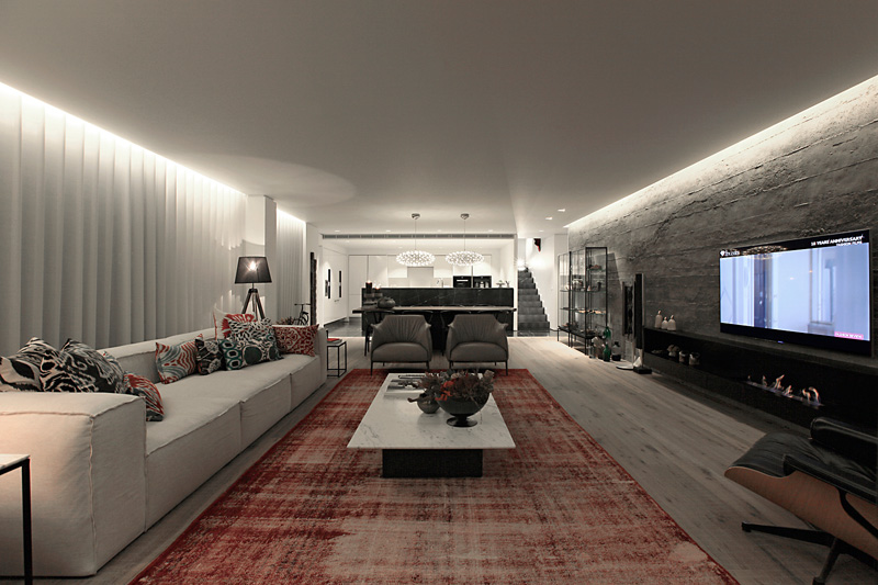 Studioe2 Design The Interior Of A Home In Turkey Featuring Marble Wood Concrete And Metal