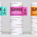 The packaging for this birch water is designed to look like a birch tree