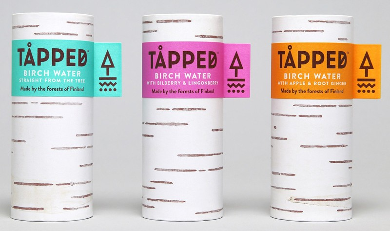 The Packaging For This Birch Water Is Designed To Look Like A Tree