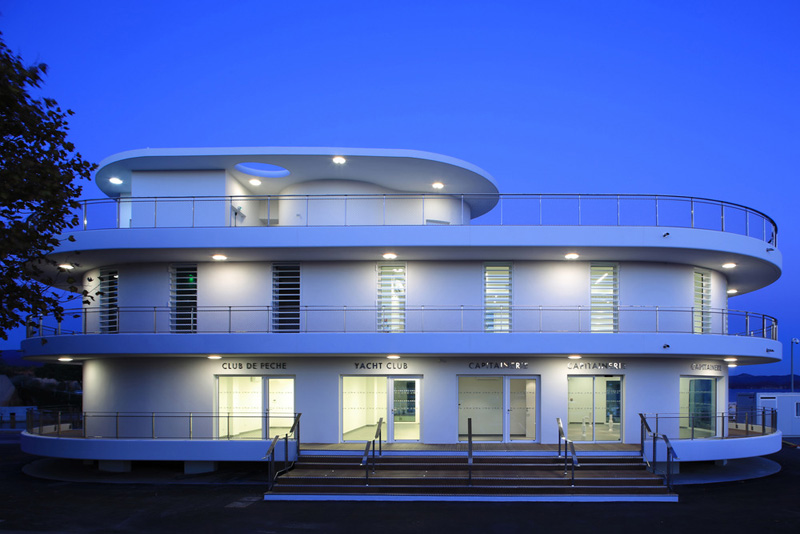 A Nautical Inspired Building Designed For A Marina In